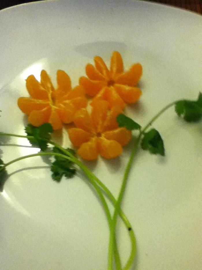 Coriander And Mandarin Flower