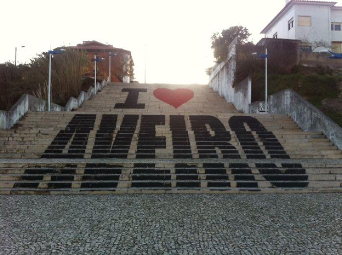 I Love Aveiro Stairs, Aveiro, Portugal