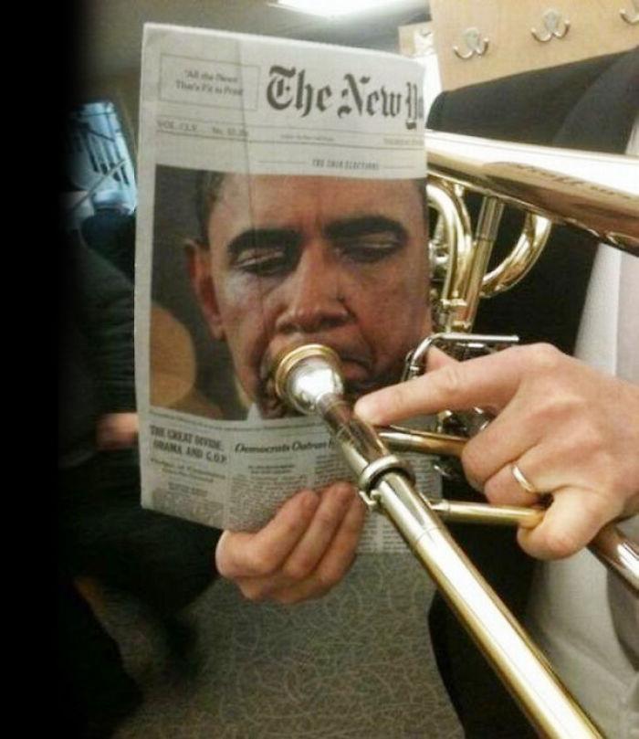 Obama Playing The Trombone
