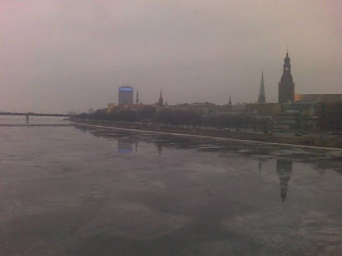 Panorama Of Riga Old Town In March (latvia)