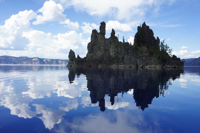 Wizard Island, Crater Lake, Oregon, Usa