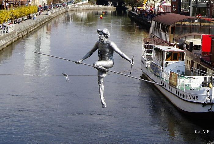 "Bydgoszcz, Poland. ""man Crossing The River"""