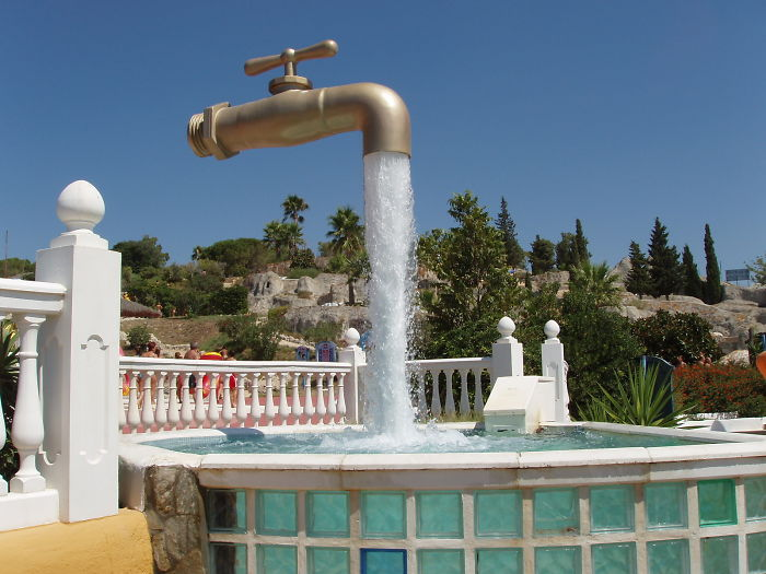 Giant Tap in Aqualand, Puerto de Santa María, Spain