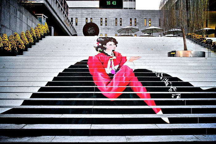 Stairs To The Musical Theater In Seoul,south Korea