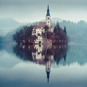 17th Century Church In Bled Island, Slovenia