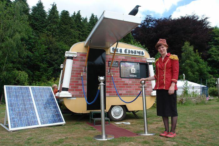 Sol Cinema- World's Smallest Solar Powered Movie Theatre