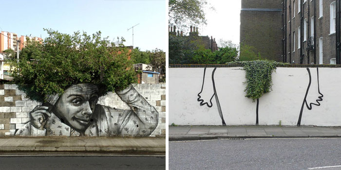 Post Street Art That Cleverly Interact With Nature