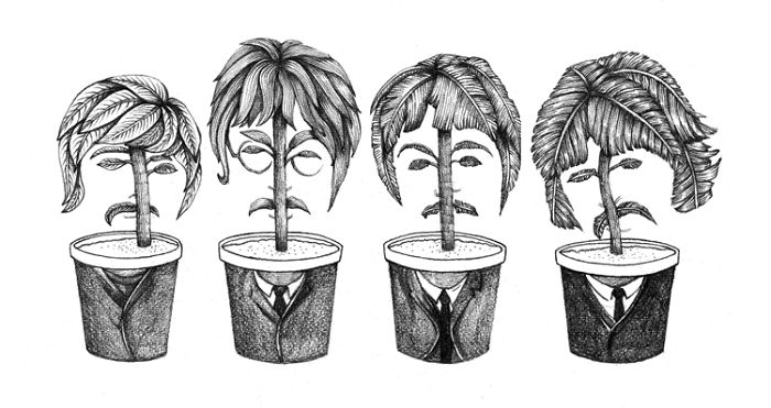 Iconic Musicians Reimagined As Potted Plants By Jingle Drew