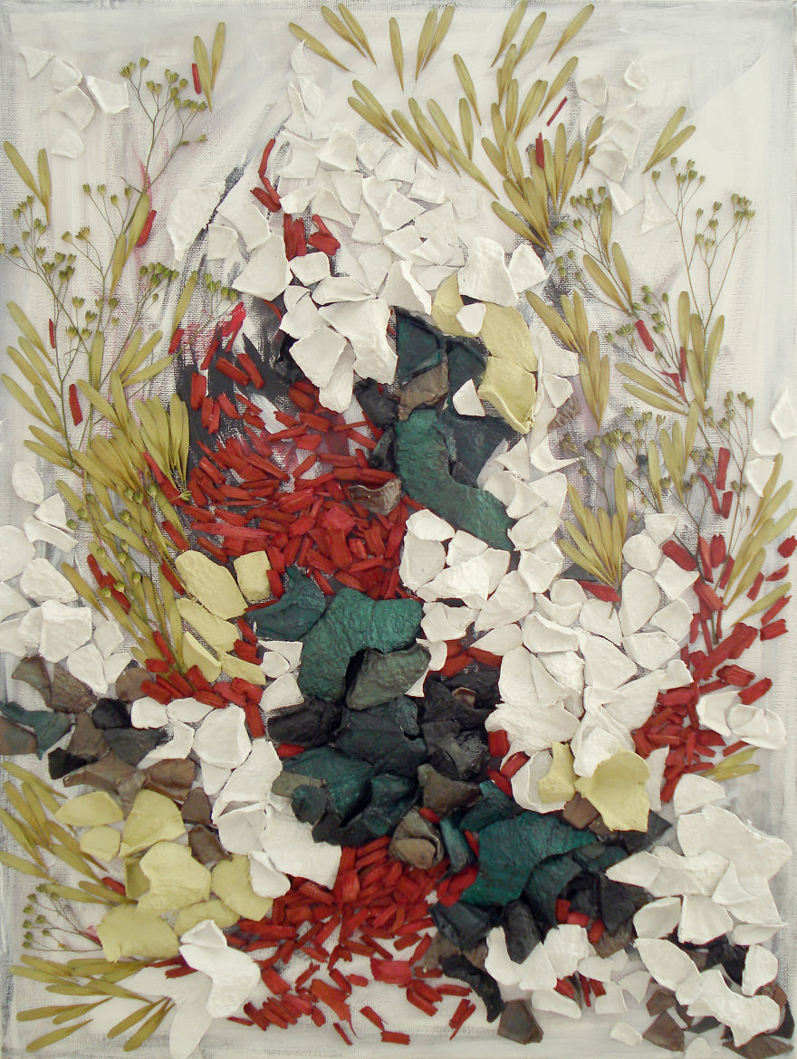 Art From Nature: Floral Collages By Anastasia Kovaleva