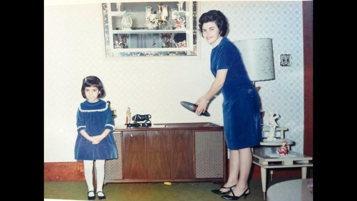 Me And My Mom, Pawtucket, Ri, Around 1967. Mom Made The Dresses, Of Course!