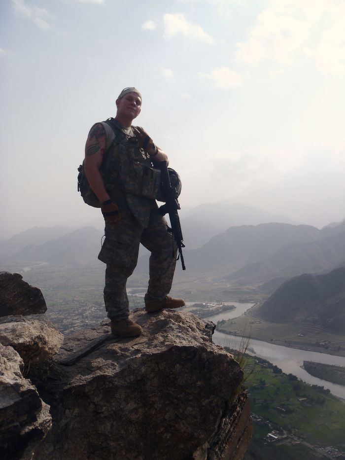 Soldier In The Mountains Of Afghanistan.