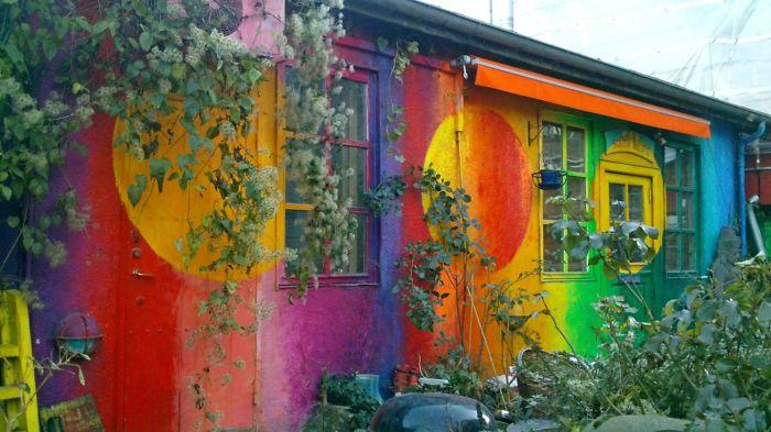 Rainbow House, Christiania, Copenhagen, Denmark