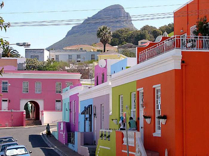 Colorful Houses In Bo-kaap, South Africa