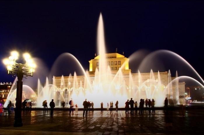 Singing Fountains At Republic Square (yerevan)