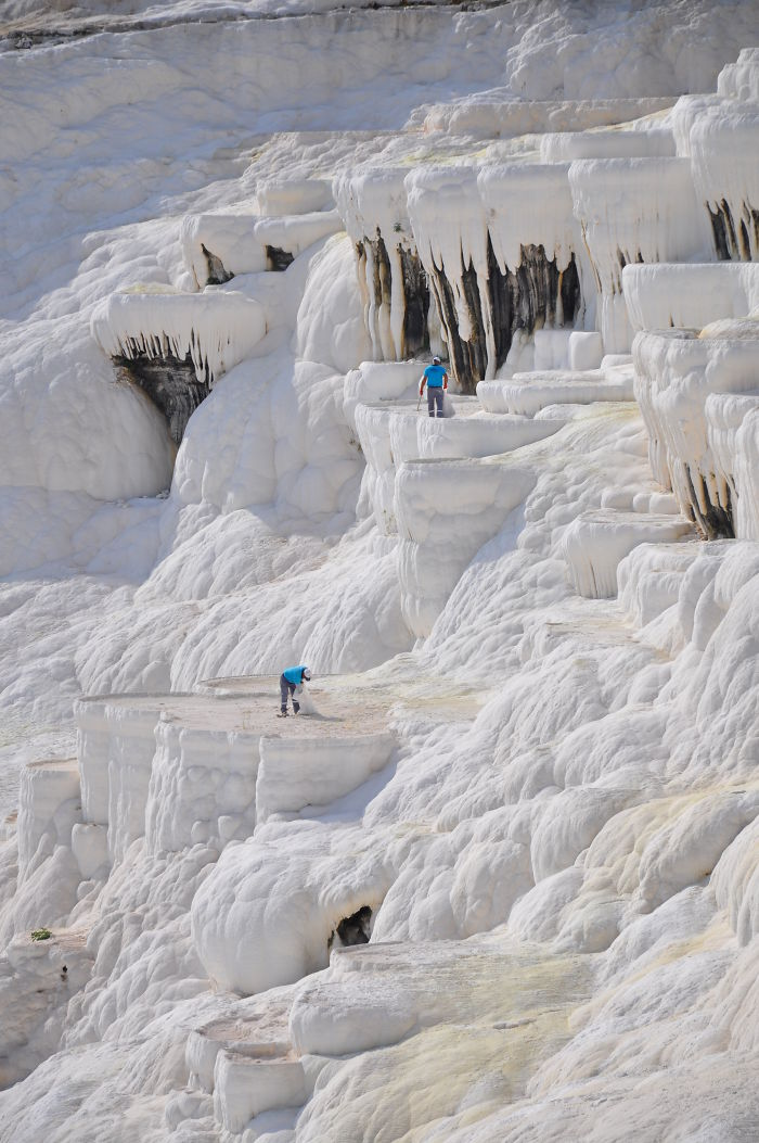 The Workers Of Pamukkale, Turkey