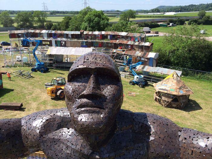 The Ancestor Sculpture Selfie At Glastonbury Festival 2014