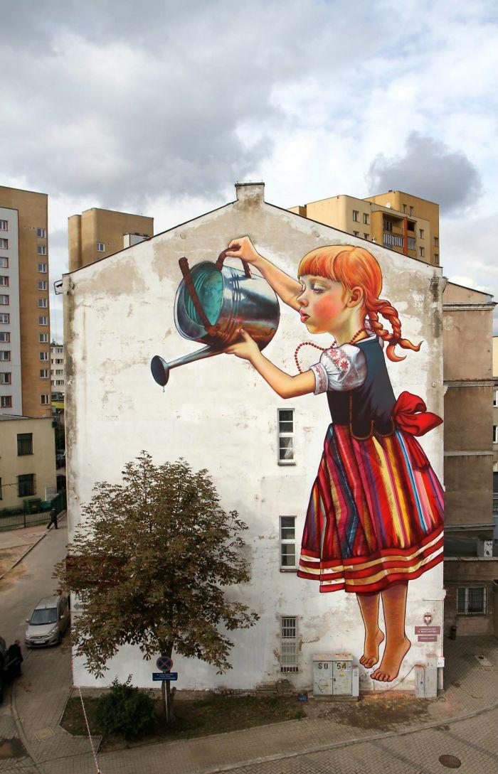 Mural By Natalii Rak, Białystok, Poland