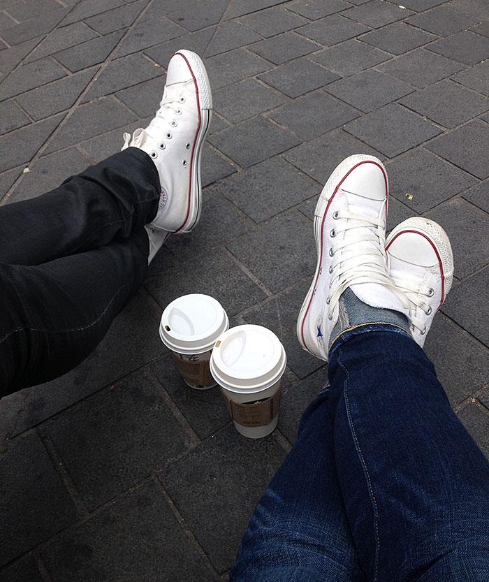 Outside Starbucks, South Kensington, London