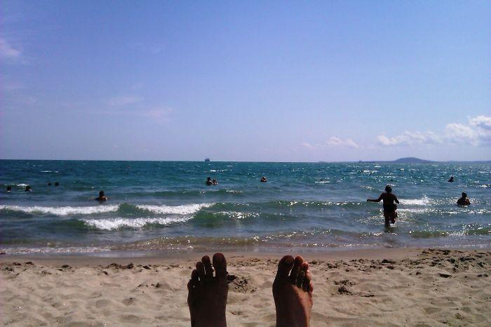Resting At Burgas Beach, Bulgaria