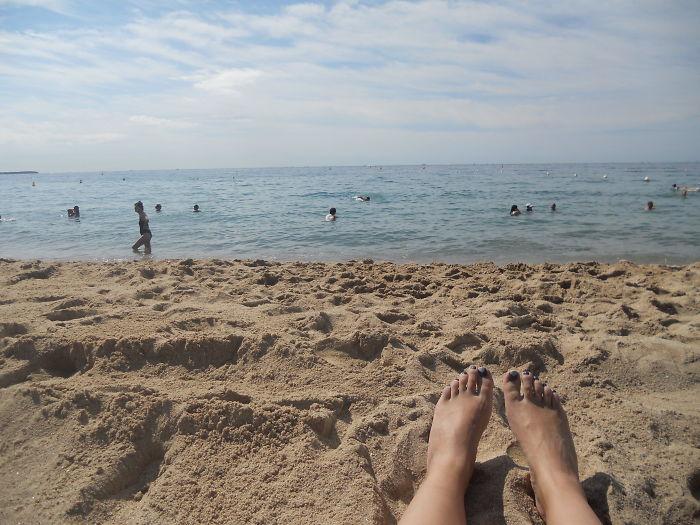 Beach Near Cannes, France