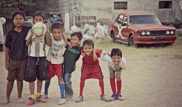 Little Footballers In Yogyakarta....