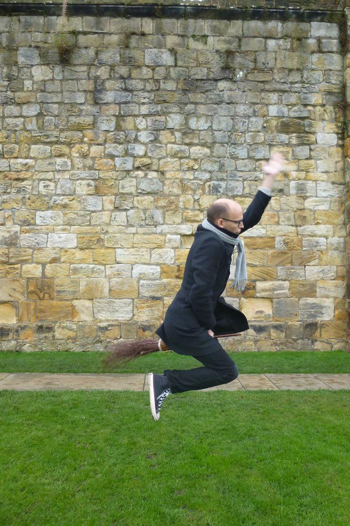 Flying Man, Alnwick Castle, Northumberland, Uk