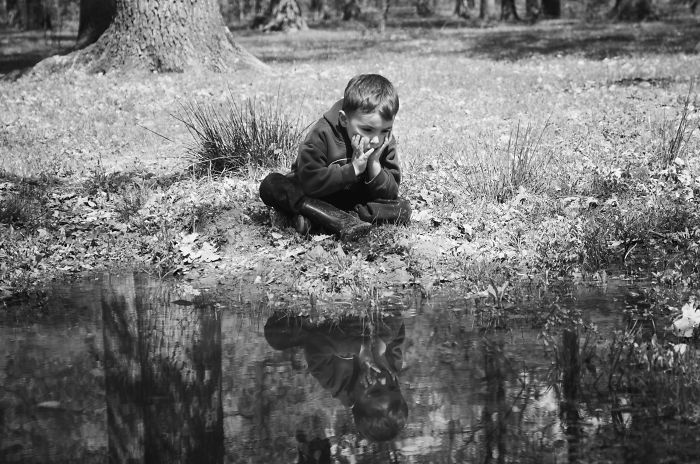 Little Boy Searching For His Friend – The Frog