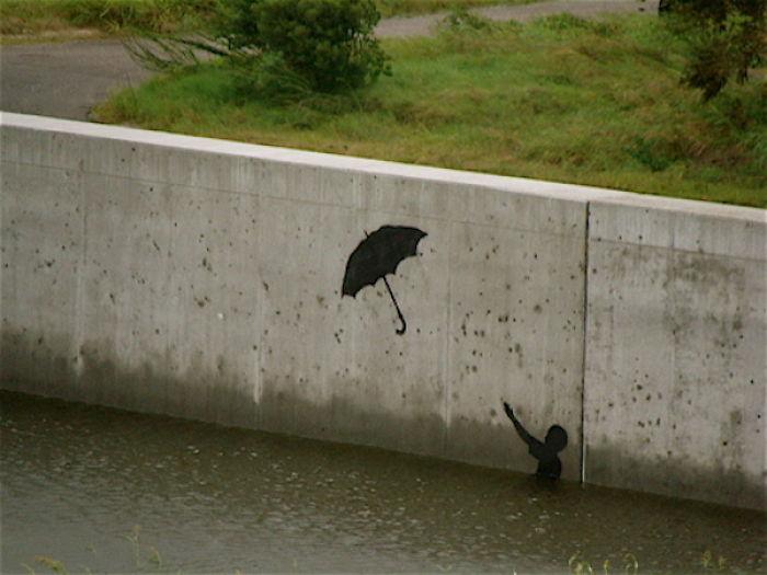 Banksy On New Orleans Levee