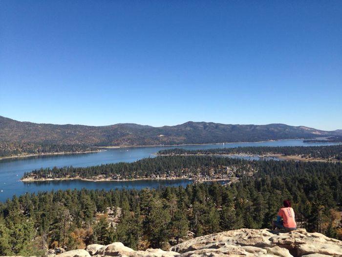 Overlooking Big Bear Lake From Castle Rock, Big Bear, Ca