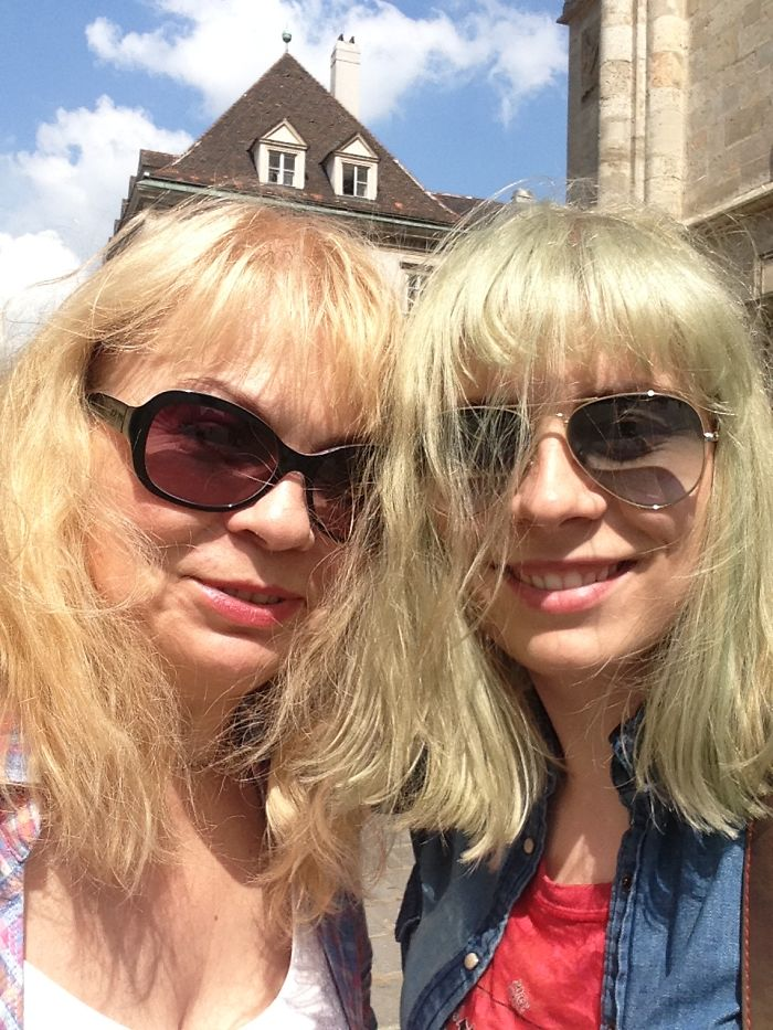 Mom And I In Vienna