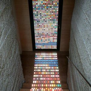 Rainbow Mosaic Door