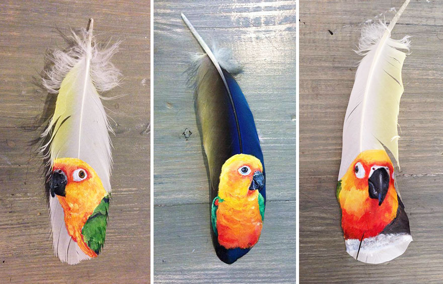 oil-acrylic-paintings-parrot-feathers-jamie-homeister-14