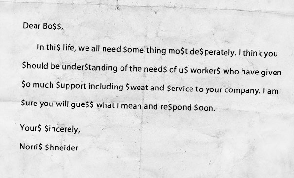 A Letter to Bo$$ [Pic]
