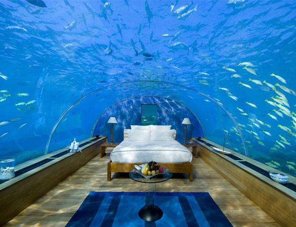 Breathtaking Underwater Bedroom in Maldives