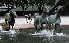 Amazing Fountain of Running Horses at Las Colinas