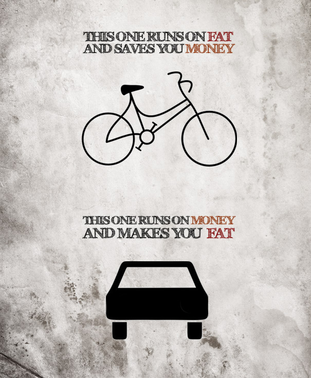 Bicycle vs. Car [Pic]