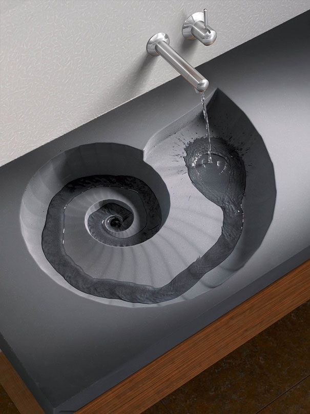 Unique Ammonite Washbasin by HighTech Design