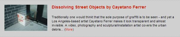 Dissolving Street Objects by Cayetano Ferrer