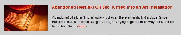 Abandoned Helsinki Oil Silo Turned into an Art Installation