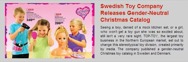 Swedish Toy Company Releases Gender-Neutral Christmas Catalog