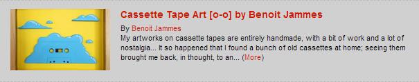 Cassette Tape Art [o-o] by Benoit Jammes