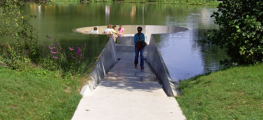 Sunken Observation Platform Let's You Walk Below Water's Surface
