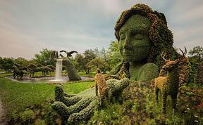 Amazing Plant Sculptures at the Montreal Mosaiculture Exhibition 2013