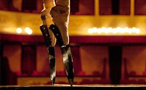 Ballerina Wears Knife Shoes to Perform En Pointe
