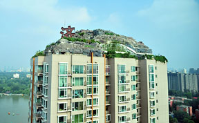 Professor Builds Illegal Mountain Villa Atop 26-Story Building in Beijing