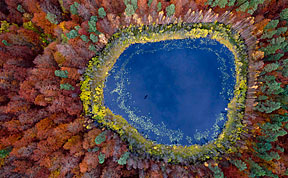 Stunning Aerial Photos of Poland's Lakes Throughout The Seasons