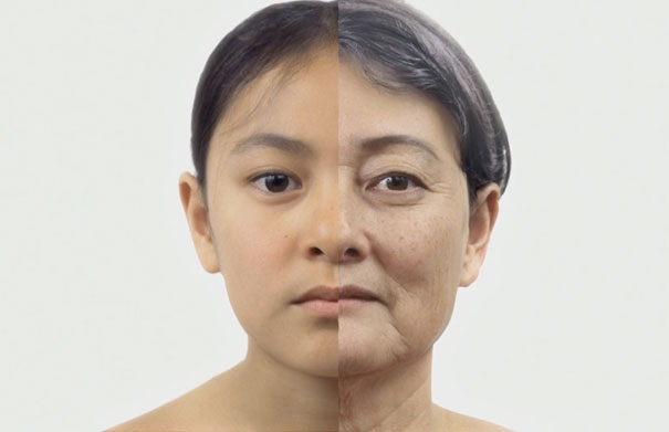 Hypnotizing Timelapse-like Ageing Video Turns Child Into Grandmother