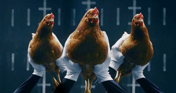 Chickens' Perfect Image Stabilization Showcased In Luxury Car Commercial