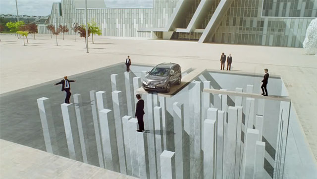 Mind-Bending Ad Uses Anamorphic Illusions & Forced Perspective To Fry Your Brain