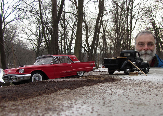 Artist Uses Perspective, Miniature Car Models And A $250 Camera To Create Realistic Historical Photos